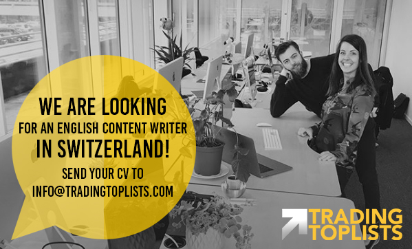 We are looking for a content writer within trading